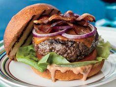 Cheddar BLT Burgers with Tarragon Russian