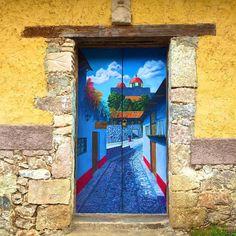 Doors and Entrances / Mineral del Chico, Hidalgo, Mexico Cool Doors, Unique Doors, Entrance Doors, Doorway, Porta Diy, Urbane Kunst, When One Door Closes, Painted Front Doors, Door Gate