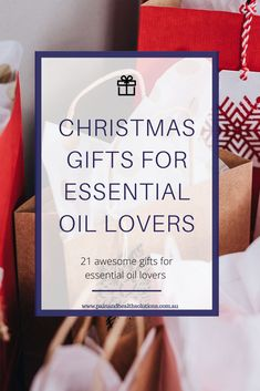 Christmas Gifts For Essential Oil Lovers - 21 Awesome gift ideas for the essential oil enthusiast's on your list - Essential Oils For Colds, Essential Oil Uses, Oil For Headache, Esential Oils, Anti Oxidant Foods, Spiritual Gifts, Christmas Gifts For Women, Natural Cleaning Products, Gifts For Friends