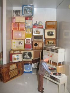 1950s to1970s TVs by diepuppenstubensammlerin, via Flickr