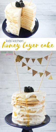 A subtle and not-too-sweet honey layer cake, perfect for afternoon parties. This honey cake is simple enough that kids can make it, too!