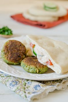 Falafel with Spicy Yogurt Sauce » Pennies on a Platter
