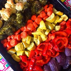 Feast your eyes and your stomach on these amazing rainbow roasted vegetables! So colorful, easy to make, healthy and delicious! Even vegetable haters will love these oven roasted rainbow veggies! Roasting brings the best flavor out of the vegetables, they are so good! And since we eat with our eyes first, the eye-catching bright rainbow colors will surely entice people to eat these amazing vegetables! Which color of the rainbow are you going to eat first? ;)  These rainbow vegetables…