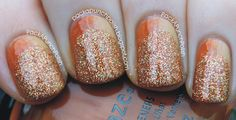 Pumpkin Spice Sparkle | 23 Snazzy Nail Ideas For Thanksgiving