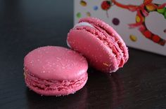 Strawberry Guimauve macarons at Ladurée...these where so good.