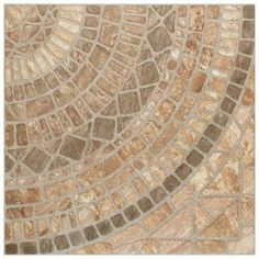 Merola Tile Attica Beige 16-7/8 in. x 16-7/8 in. Ceramic Floor and Wall Tile (14.15 sq. ft. / case)-FAZ18ATB - The Home Depot House Tiles, Wall Tiles, Home Depot, Front Door Design Wood, Tile Projects, Faux Stone, Beige, Shower Floor, Stone Tiles