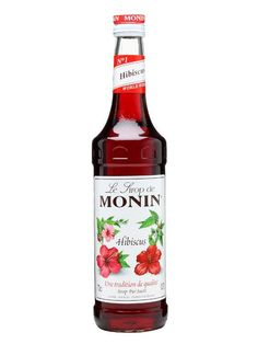 Monin Hibiscus Syrup : Buy Online - The Whisky Exchange - A relatively recent addition to French company Monin's range, this Hibisicus flavoured syrup shows tart red fruit flavours alongside its gentle sweet floral notes. Great in tea, with lemonade and i...