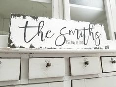 Our VINTAGE INSPIRED Shabby Chic Vintage Custom Name Signs make the BEST HOME DECOR. Whether your purchasing something special for yourself or a gift for someone special, our CUSTOM NAME SIGNS are just simply perfect for any occasion. Let's Create! Shabby Chic Signs, Family Name Signs, Last Name Signs, Painted Name Signs, Rustic Wall Decor, Rustic Wood, Log Home Interiors, Established Family Signs, Wooden Signs