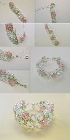 fresh beaded flower bracelet, best choice for summer, make one for yourself. LC.Pandahall.com will release the tutorial soon.