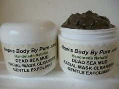 Homemade CHEAP Natural DEAD SEA MUD Exfoliating FACIAL MASK   4 oz Jar