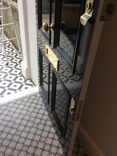 Victorian front door in black gloss