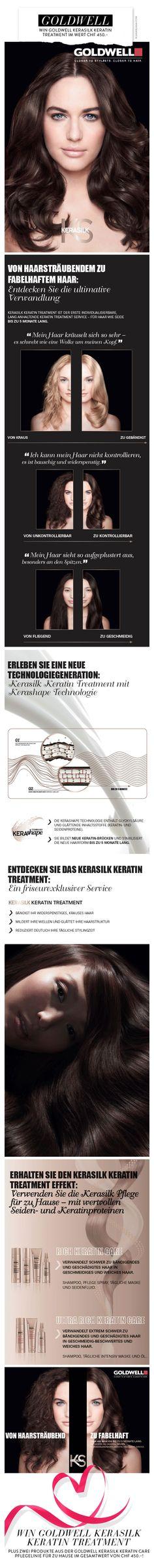 Win Goldwell Kerasilk Keratin Treatment im Wert von CHF 450.–