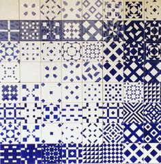 Graphic pattern | Blue and white | Ceramic Tiles, Lisbon.