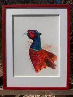 Faisan/Pheasant Watercolour Paintings, Watercolor, Pheasant, Beautiful, Art, Pen And Wash, Art Background, Watercolor Paintings, Watercolor Painting
