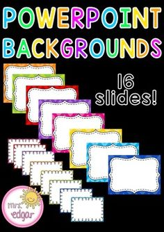 PowerPoint+backgrounds:16+slides+with+two+different+PowerPoint+background+designs.+Simple,+colourful+and+bright.Key+terms:Powerpoint+background,+powerpoint,+powerpoint+slides,+powerpoint+presentation