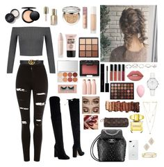 """❤️"" by katmargoo on Polyvore featuring WithChic, Bianca Di, Topshop, Gucci, David Yurman, Adina Reyter, Rebecca Minkoff, GUESS, Daniel Wellington and Puma"