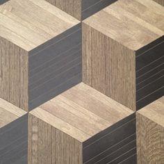 Cubic Tile - Nougat Wood, Urbana Wood and Graphite Wood.