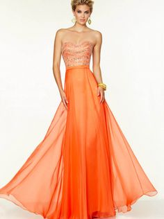 5341d5ebdfeb A-line Orange Chiffon Formal Dress Evening Dress Prom Dress 2015 Parai  97090 Formálne