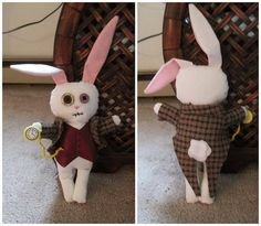 Creepy-Cute White Rabbit Plushie (Zombified Alice's BFF) - TOYS, DOLLS AND PLAYTHINGS - Knitting, sewing, crochet, tutorials, children crafts, papercraft, jewlery, needlework, swaps, cooking and so much more on Craftster.org
