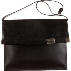 Pre-owned Maison Martin Margiela Shoulder Bag ($345) ❤ liked on Polyvore featuring bags, handbags, shoulder bags, black, handbags & purses, shoulder handbags, black leather purse, man shoulder bag and leather man bag