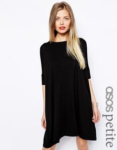 ASOS PETITE The T-Shirt Dress with Short Sleeves first trimester petite pregnancy petite maternity