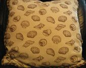 Vintage Seashell Pillow with Rope Border Removable Pillowcase for Laundering $20 Shipping Included