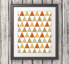 Abstract Triangles Triangle Print Triangle Art by BentonParkPrints, $10.00