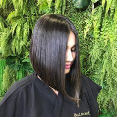 Medium Black Hair, Two Color Hair, A Line Hair, Gypsy Hair, Brown Hair Shades, Lob Haircut, Long Bob Hairstyles, Hair Transformation, Bambi