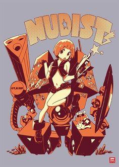Kill La Kill Nudist Mako B2 Poster Hiroyuki imaishi