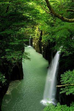 Waterfall canyon, takachiho, japan http://www.lonelyplanet.com/japan/kyushu/takachiho/sights/gorge/takachiho-kyo