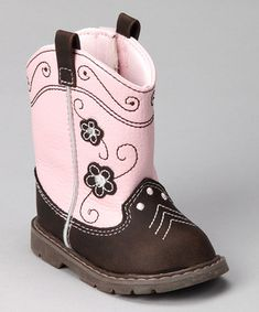 Pink & Brown Cowgirl Boots! I love these!!!