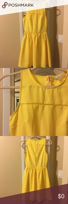 yellow flare dress Bright yellow dress. Purchased from Dillard's. Worn a couple times. Great condition. A little wrinkled needs to be ironed. GB Dresses
