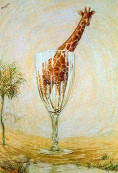 girafa numa taça!?