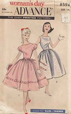 Use as a paper doll pattern (by Two Crazy Crafters) Vintage Dress Patterns e647705dcf35