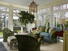 Scott Snyder Inc. Greenwich, CT home project...chinoiserie lantern, transom windows, glues and greens