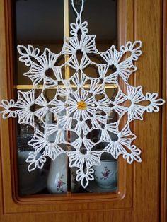 Crochet Snowflake Pattern, Crochet Doily Diagram, Crochet Stars, Crochet Snowflakes, Crochet Motif, Crochet Doilies, Crochet Flowers, Crochet Patterns, Crochet Christmas Decorations