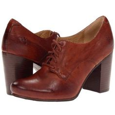 228-Frye-Carson-High-Heel-Leather-Oxford-Womens-Lace-Up-Shoes-6US-11US