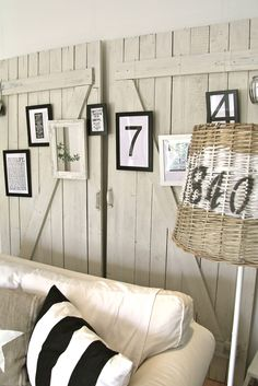 instead of a whole wall of bead board etc use doors...clever...can be adapted to use anywhere