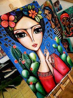 Kahlo Paintings, Poster Background Design, Madhubani Art, Canvas Designs, Art Icon, Arte Pop, Whimsical Art, Painting For Kids, Mandala Art