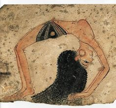 Painted on limestone, from Deir el-Medina, the Artisans Village in Luxor. 19th Dynasty (ca 1200 BC). Turin Museum.