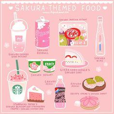 Sakura-themed Goods & Food in Japan + Kawaii Market Sakura Mochi, Japan Sakura, Japanese Snacks, Japanese Food, Bento Kawaii, Kawaii Diy, Kawaii Room, Kawaii Stuff, Kawaii Anime