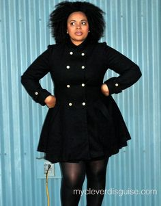Dollhouse Plus Size Coat, Single Breasted Pea Coat #NotABox and ...