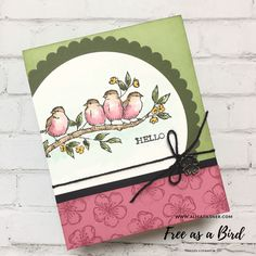 Stampin' Up! Free as a Bird, bird ballad suite Bird Cards, Butterfly Cards, Flower Cards, Bird Sketch, Stampin Up Catalog, Stamping Up Cards, Animal Cards, Tampons, Card Sketches