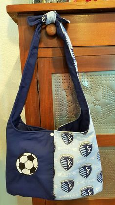 Sporting KC Hobo Purse with Applique Soccer Ball by SherrysCraftPatch on Etsy