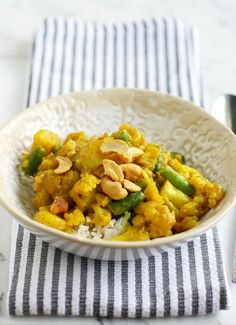 Coconut Curry with Cauliflower and Potatoes.