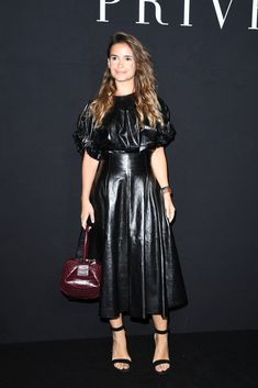 Miroslava Duma attends the Giorgio Armani Prive Haute Couture Fall/Winter 2016-2017 show as part of Paris Fashion Week on July 5, 2016 in Paris, France.