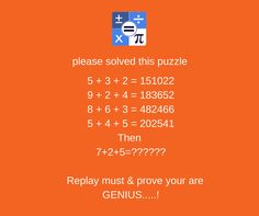 Comment Your answer on : http://www.calculusapp.com/2017/08/02/puzzle-6/  Install : https://goo.gl/cmRvyX