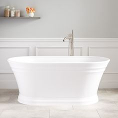 Peace and relaxation await you in the Odenwald Acrylic Tub. Experience spa-like luxury the moment you step foot in this bathtub, as the shape is designed to provide plenty of space and support. Diy Bathtub, Bathtub Remodel, Copper Bathtub, Stone Bathtub, Bathroom Layout, Bathroom Interior Design, Bathroom Ideas, Bathroom Tubs, Bathroom Designs