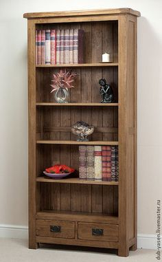Oak Furnitureland offers great value solid wood furniture and sofas, made for life. Oak Bookshelves, Rustic Bookcase, Rustic Sideboard, Large Bookcase, Large Sideboard, Solid Wood Shelves, Interior Desing, Rustic Office, Furniture