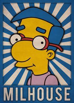 Milhouse, The Simpsons Dope Cartoons, Dope Cartoon Art, Old School Cartoons, Simpsons Characters, Simpsons Art, Futurama, Krusty The Clown, Geeks, Nerd Art